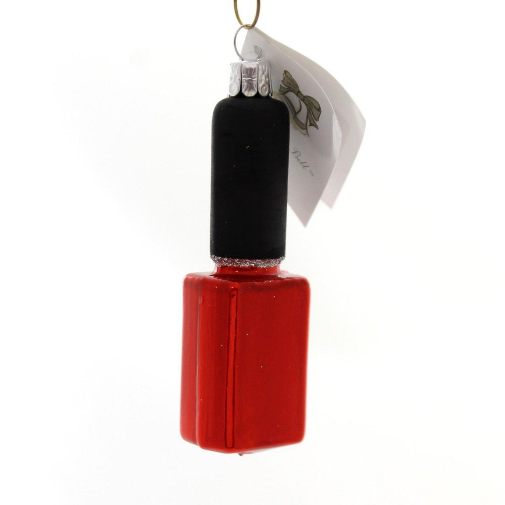 """Golden Bell Collection 3.75"""" Nail Polish Finger Decoration Ornament  -  Tree Ornaments"""