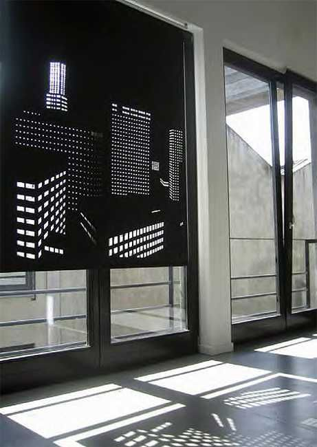 Perforated Window Curtains Adding Stylish Designs To Interior