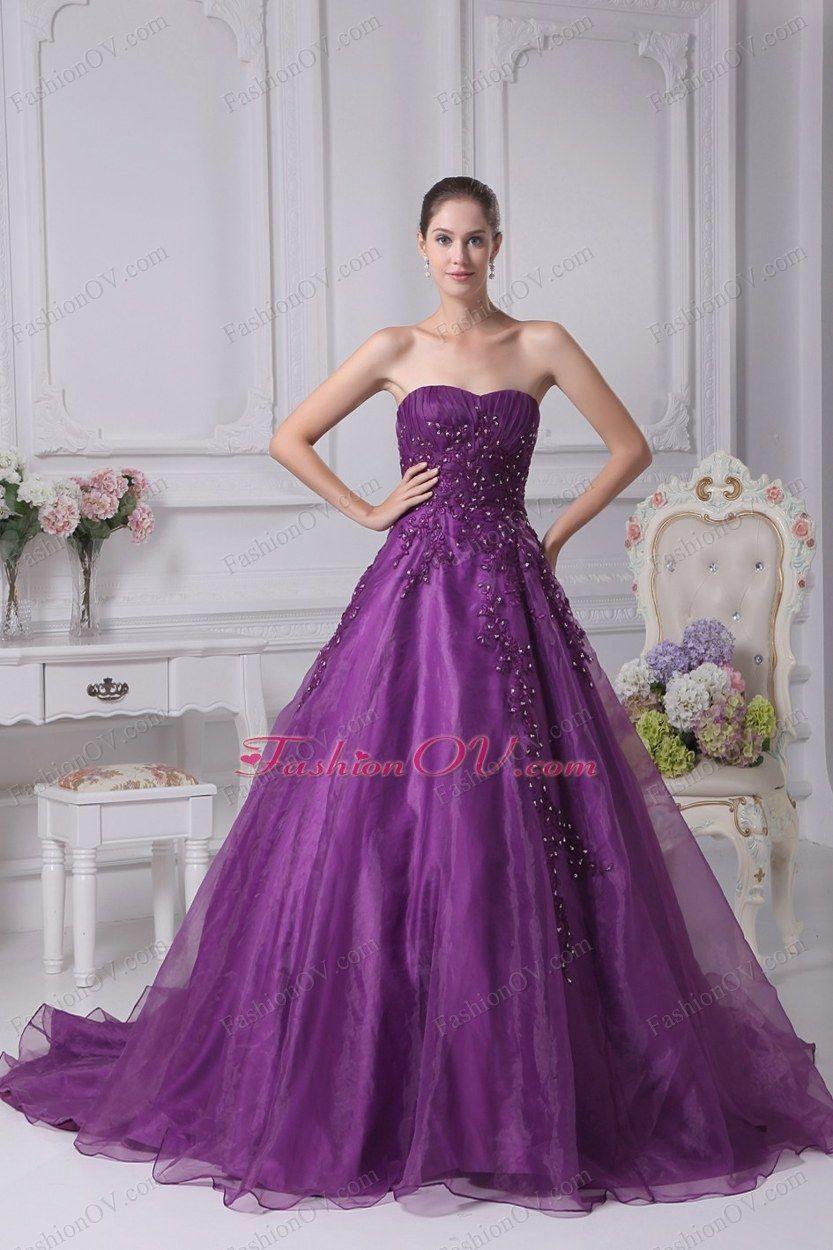 Wedding Dress in Purple | Fashion | Pinterest | Vestido de 15 año ...