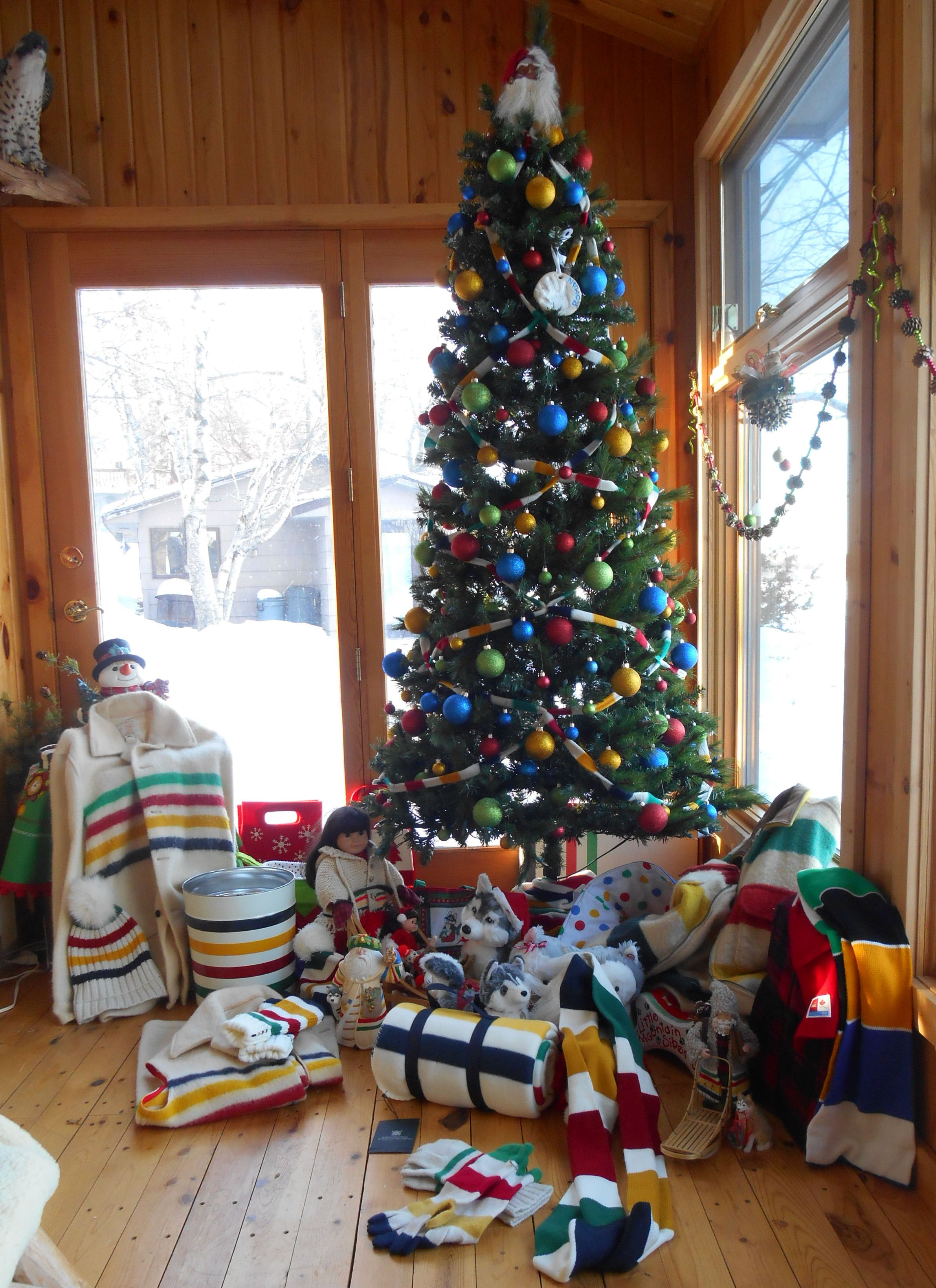 HBC stripe gifts &Tree at our house Monticello MN