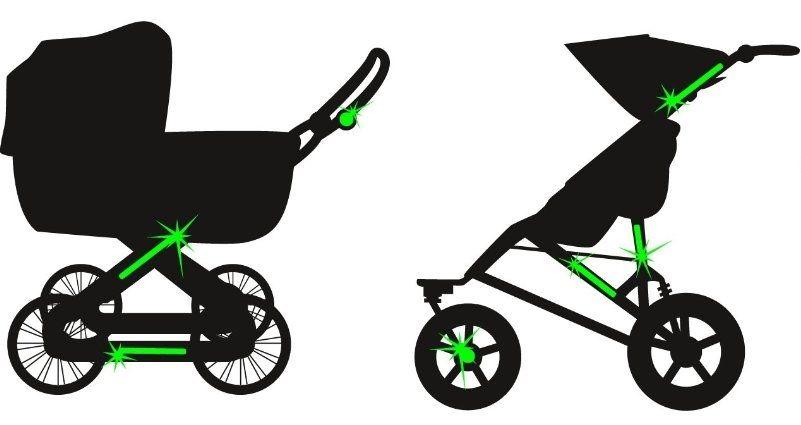 Great Beleuchtung Kinderwagen Bilder >> Led Fahrrad Lampe Roller ...