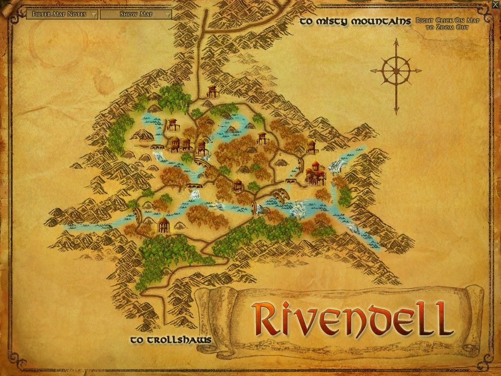 Rivendell Maps Lord Of The Rings Online Zam