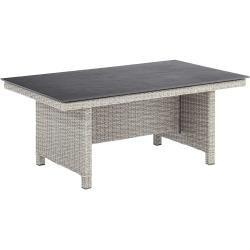 Photo of Kettler Palma Modular Dining Table 160x95cm wicker / Kettalux White-Wash / Slate-Anthracite KettlerKe