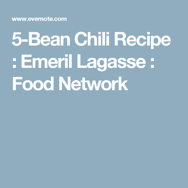5 bean chili recipe emeril lagasse food network food 5 bean chili recipe emeril lagasse food network forumfinder Images
