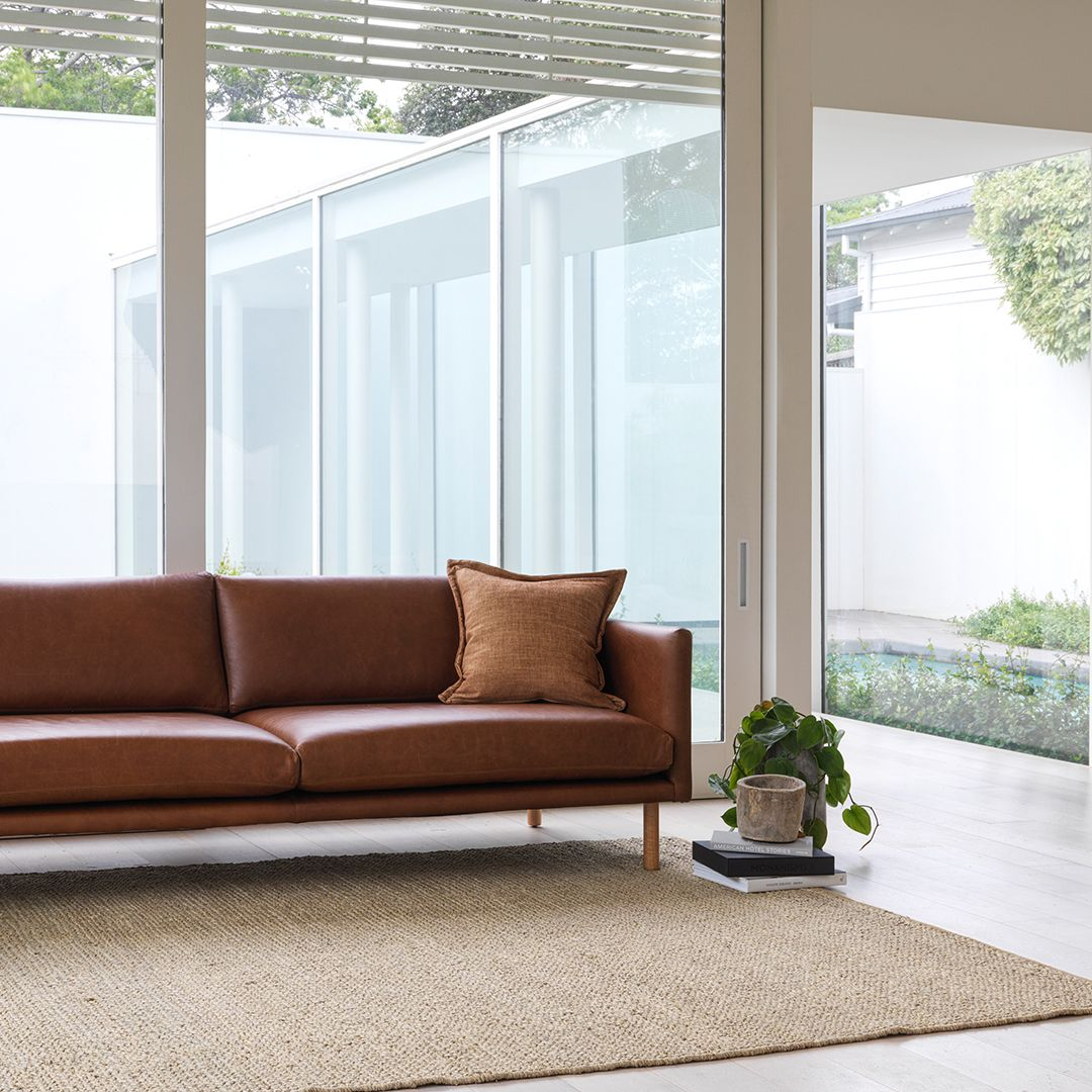 The New Delta Sofa By Arthur G Is A Clean Lined Classic Shape Upholstered In A New Zealand Tan Leather Available In Your C Custom Sofa Furniture Design Sofa