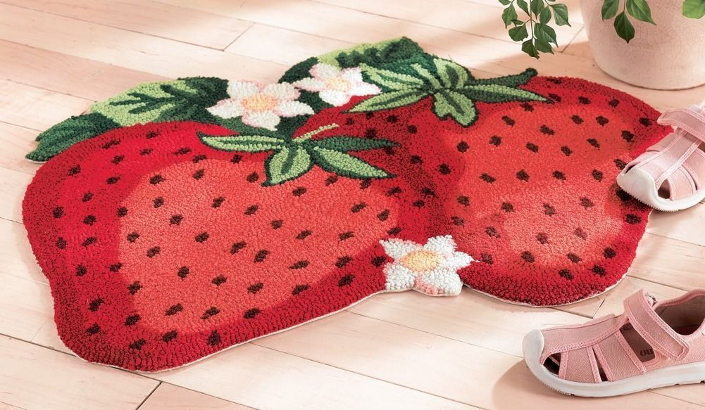 Pin By Gennie Bates On Home Plans Strawberry Kitchen Strawberry Kitchen Decor Rug Decor