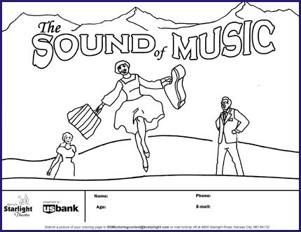 Sound Of Music Coloring Pages Google Search Music Coloring