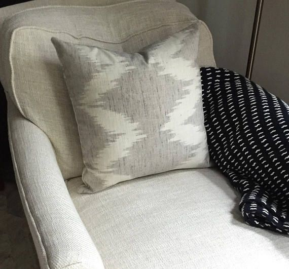 West Elm Throw Blanket Adorable Hartley Jones Design Gray And Cream Ikat Pillow Cover With West Elm Design Ideas
