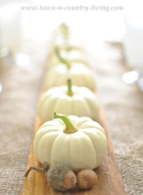Baby Boos on a French bread board via Town and Country Living