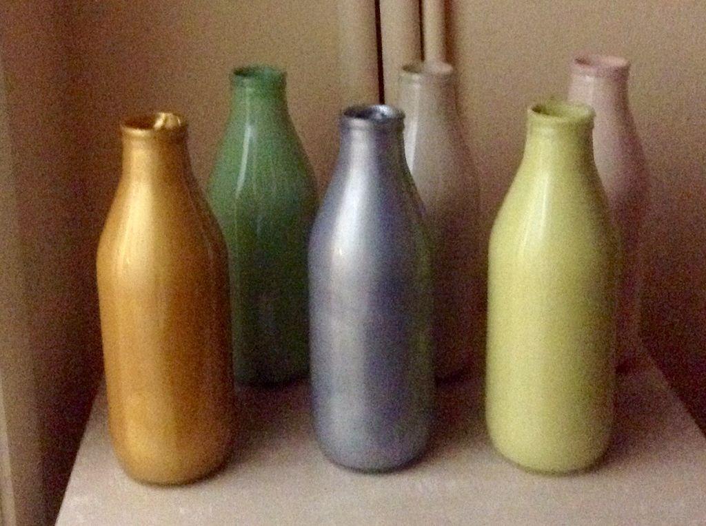 Cam şişe Boyama Cam Boyama Bottle Wine Ve Home Decor