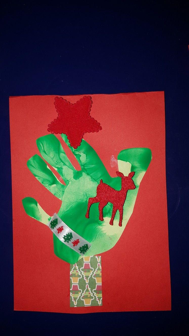Kerstboom hand verf