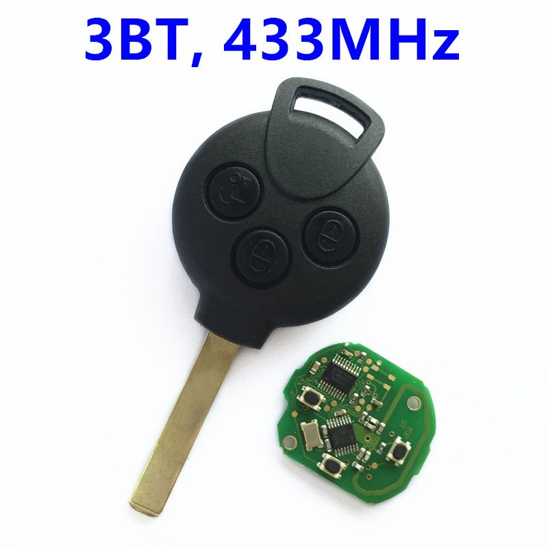 3 buttons remote key for mercedes benz smart fourtwo 451
