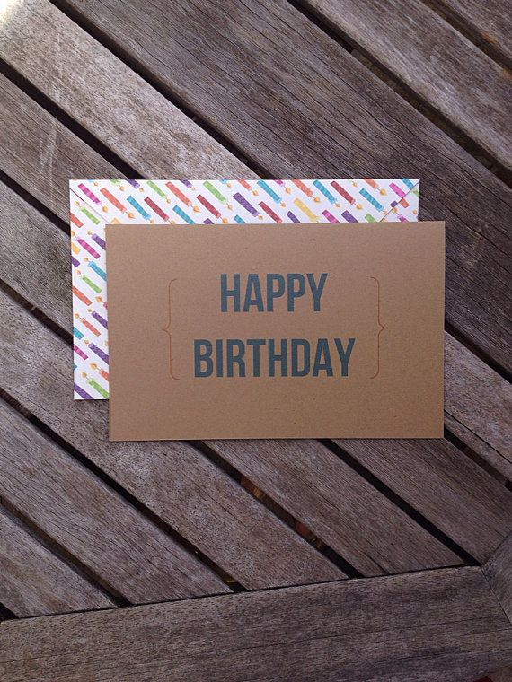 Homemade Funny Happy Birthday Card Blue and by AKDesignsCustom, $7.00