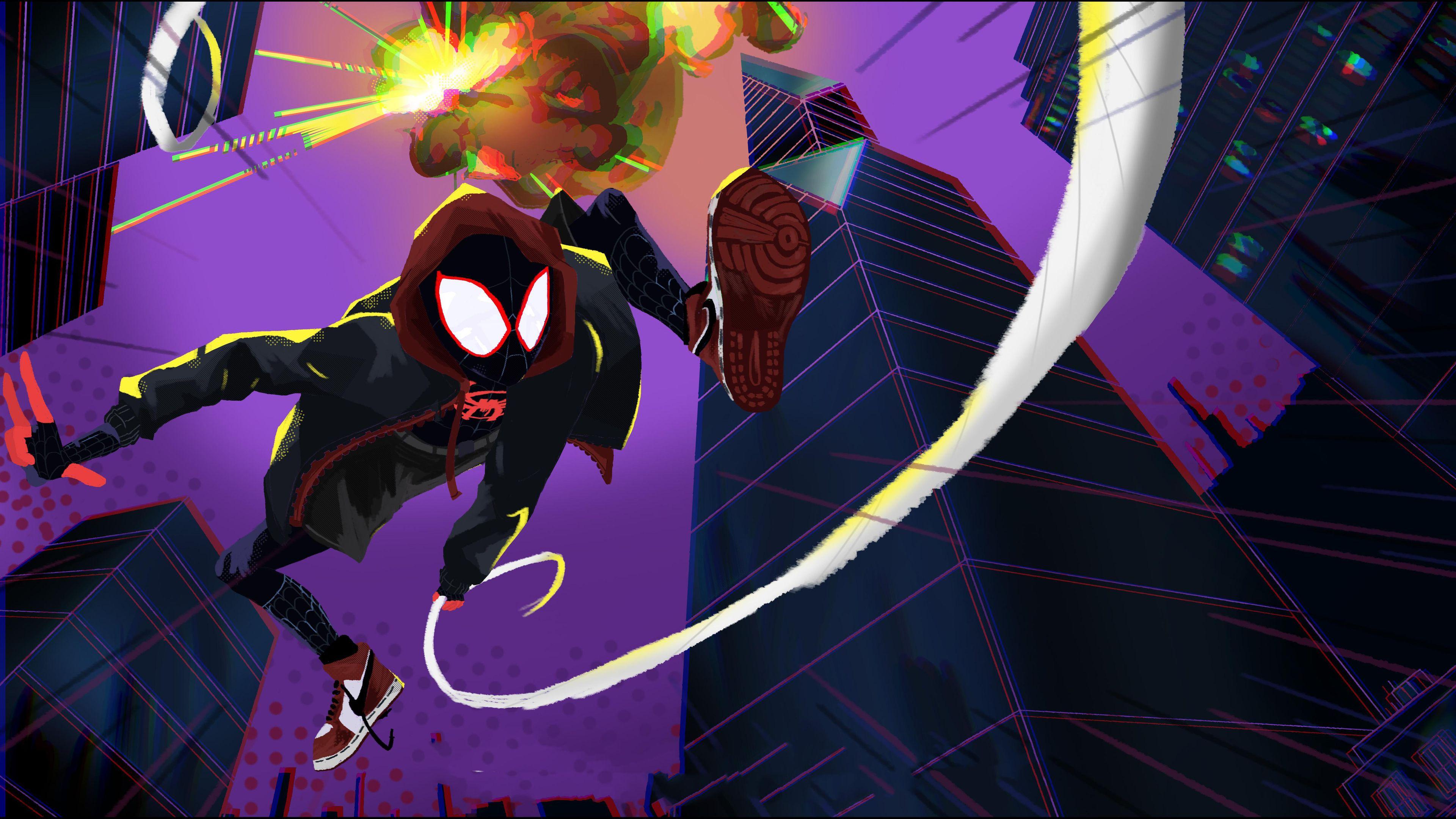 Spiderman Miles Morales Art 4k Superheroes Wallpapers Spiderman Wallpapers Spiderman Into The Spider Verse Wallpapers Spiderman Marvel Wallpaper Spider Verse