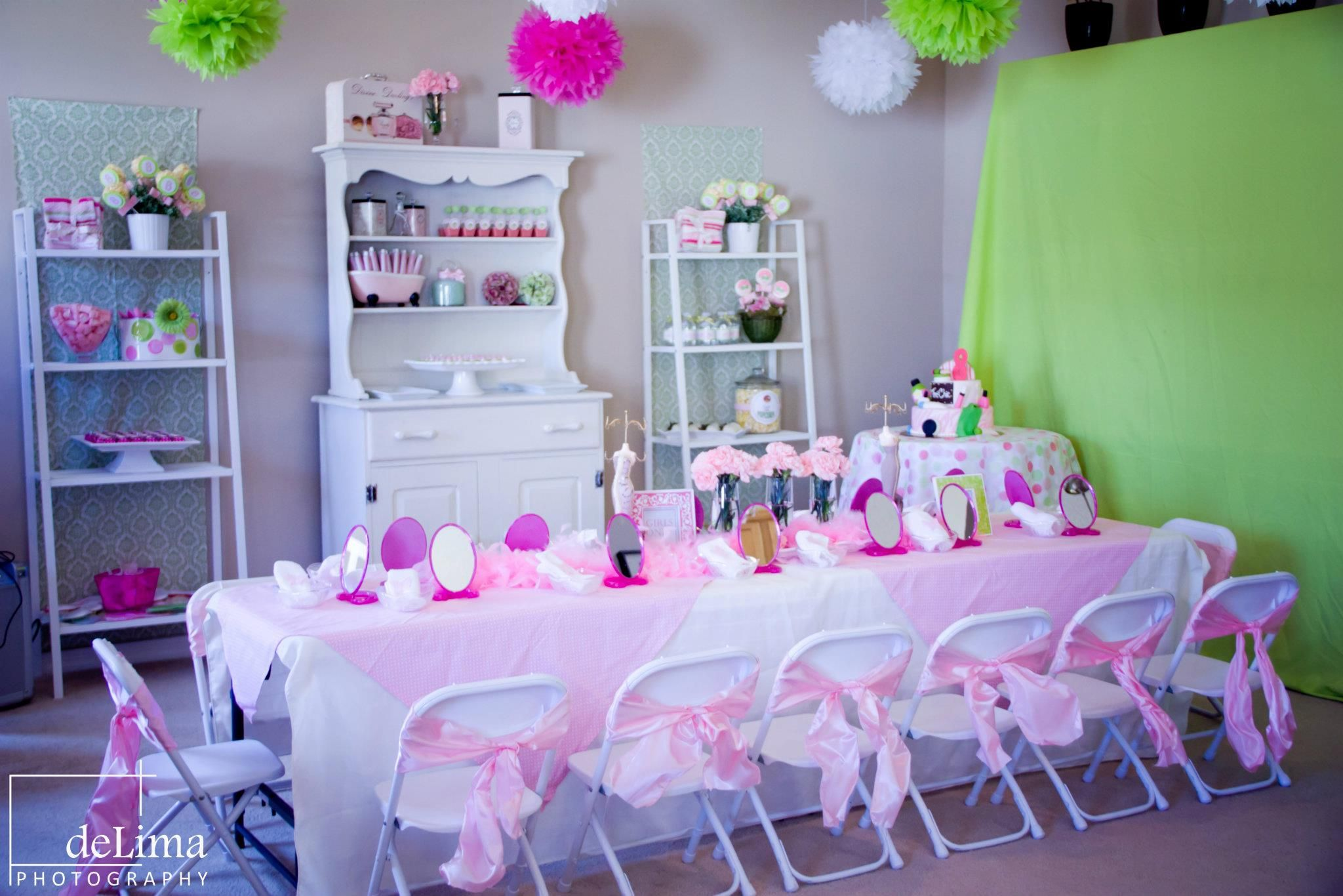 Spa party decorations on pinterest kids spa party kids for B day party decoration ideas
