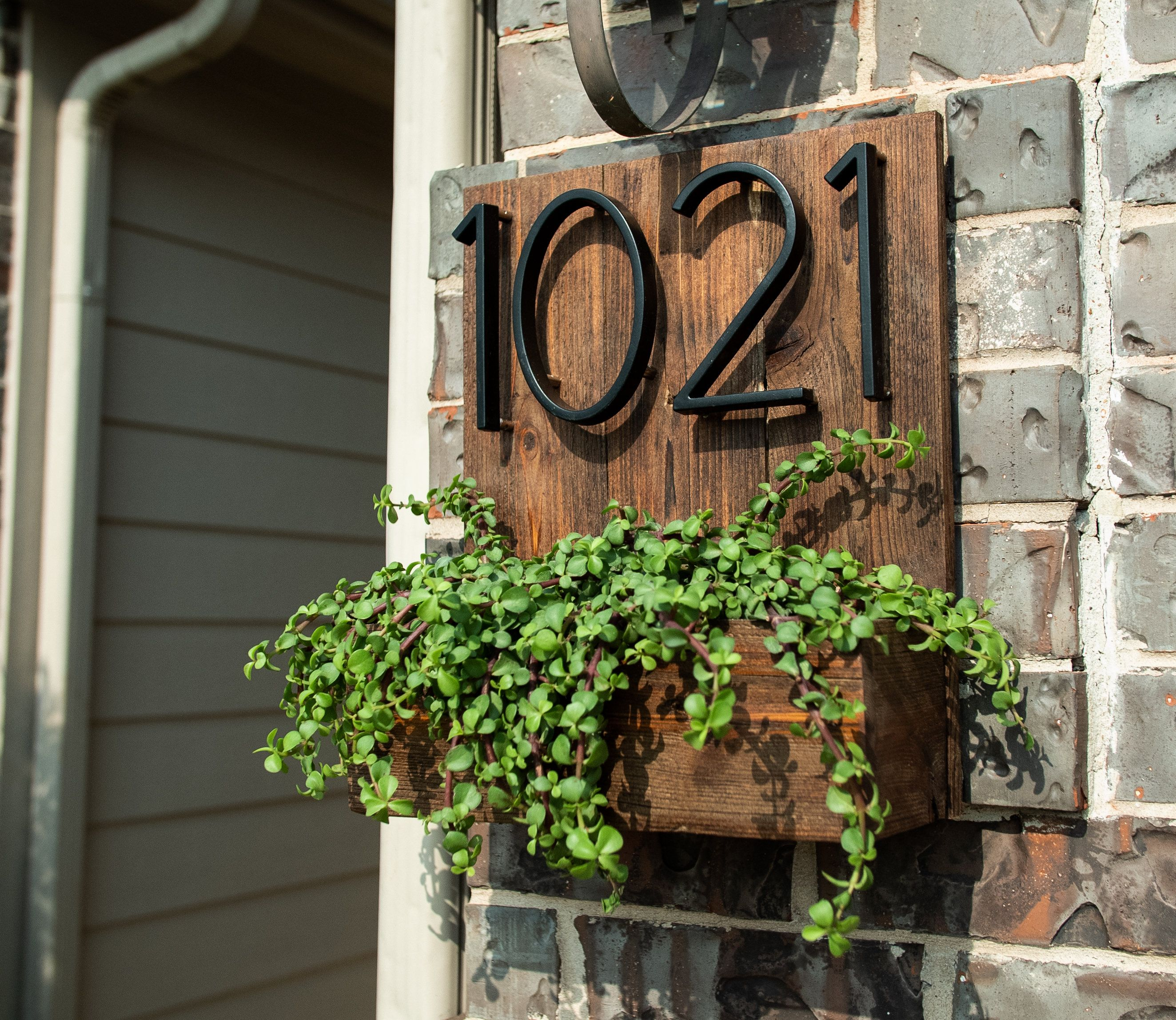 House Number Planter Box Address Planter Box Address Number Etsy Rustic Planters Outdoor Planters House Numbers