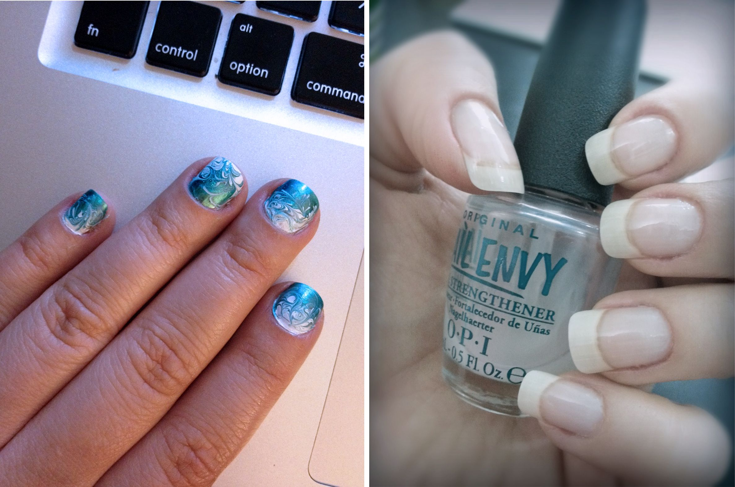 Nail Envy Miracle nails! right: my never growing always peeling ...