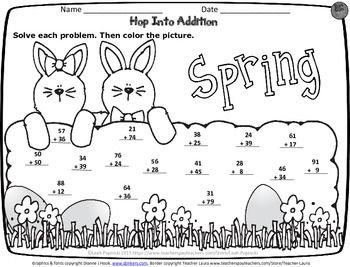 FREE Spring Addition Activity