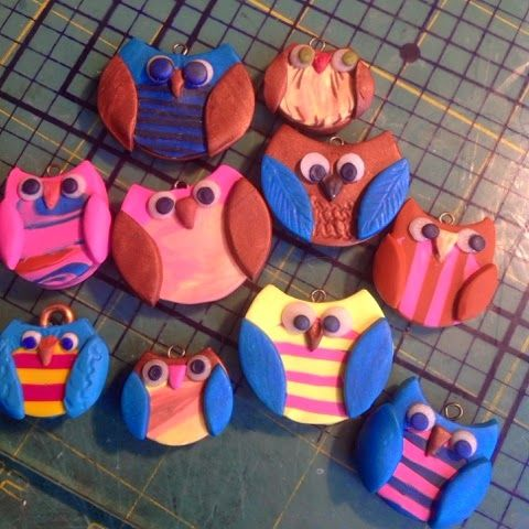 How to make a simple owl - #Polymer #Clay #Tutorials