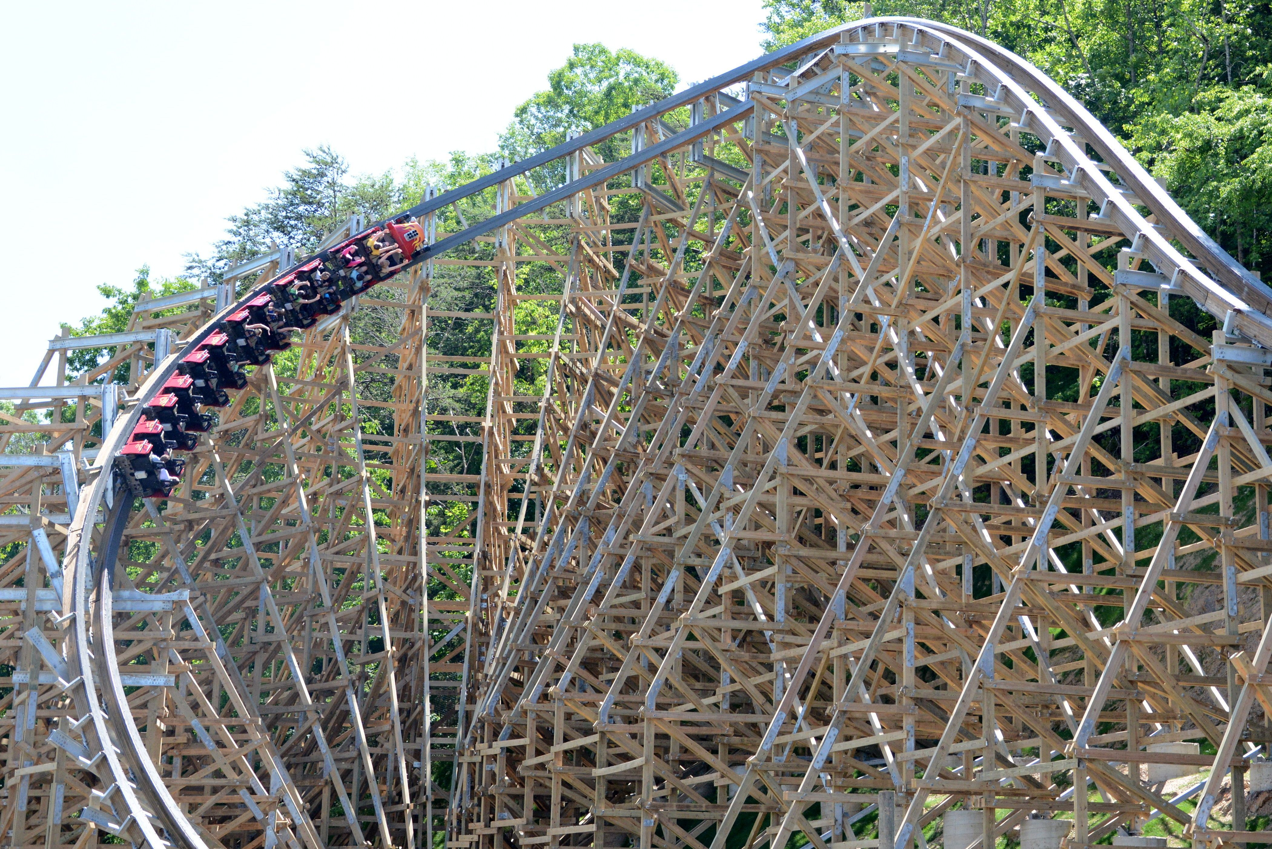 Insane Turn On Lightning Rod At Dollywood Tennessee Wooden