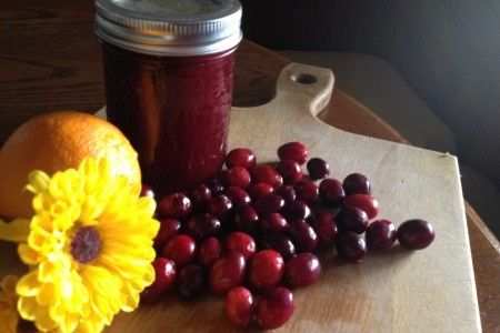 Citrus-ee cranberry sauce...