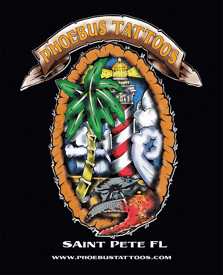 Phoebus tattoos promo art art design lighthouse crab