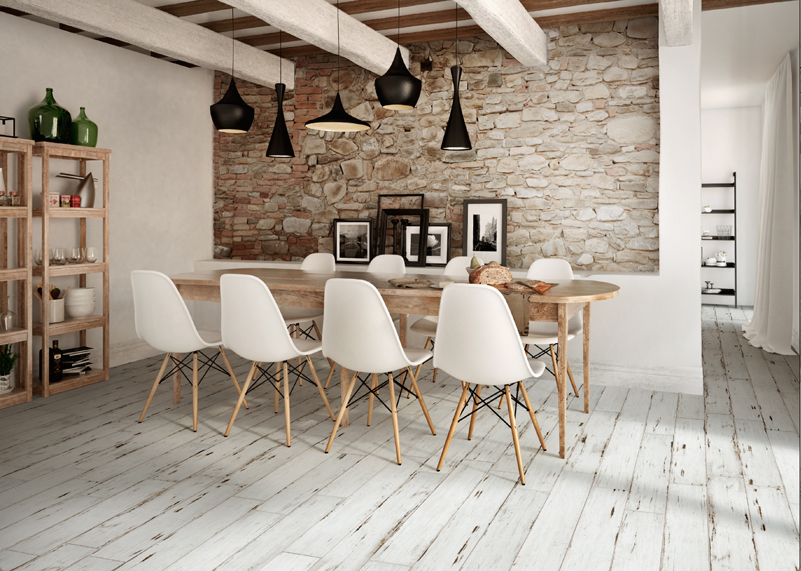 Painted White 150x900mm Distressed Wood Grain Porcelain Tiles Just Arrived In Stock And So Cool