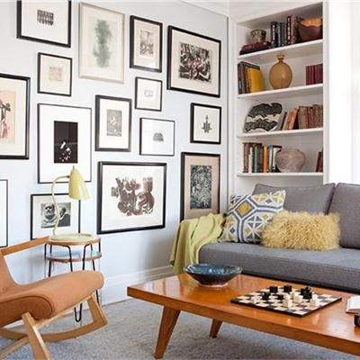 Light Walls Grey Sofa And Neutral Floor Small Scale Furniture