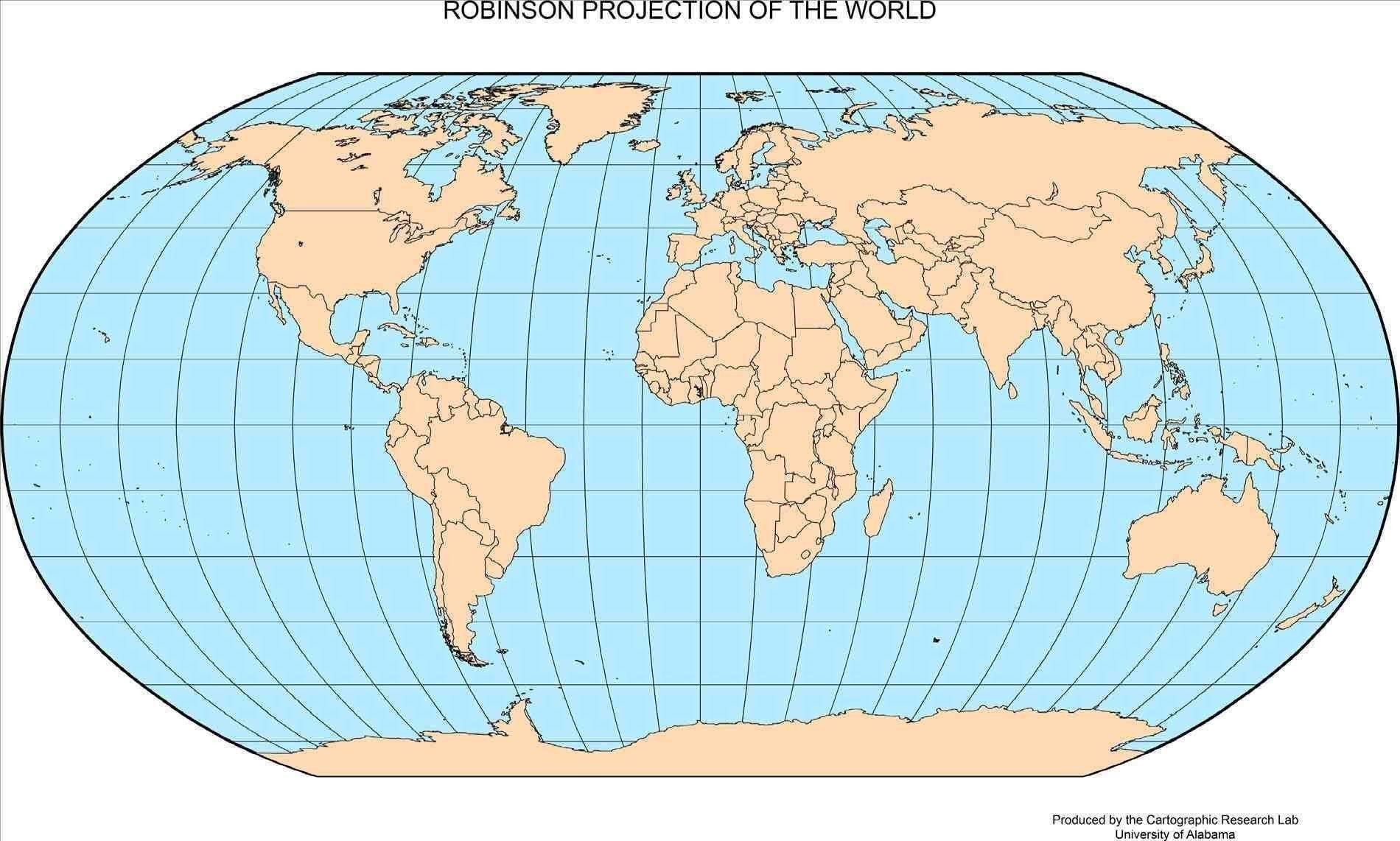 Global Map With Latitude