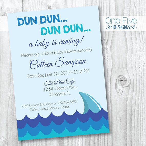 Shark Baby Shower Invitation Printable 5x7 Etsy Shark Baby Shower Baby Shower Invitations Printable Baby Shower Invitations