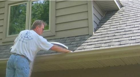 Rain Flow Total Gutter Protection Is A System That Fills The Entire Gutter Opening So That Nothing But Water Gutter Protection Rain Water Collection Downspout