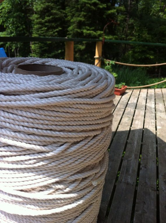 1 4 Inch Pure Cotton Rope 20 Feet Or 6 6 By Ksnauticalsupplies 15 00 Cotton Rope Nautical Decor Pure Cotton