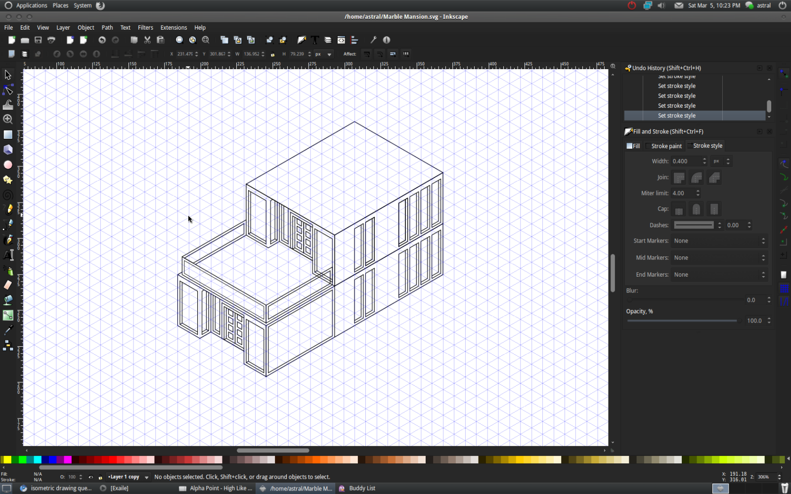Inkscape isometric drawing question digimedia Art design software