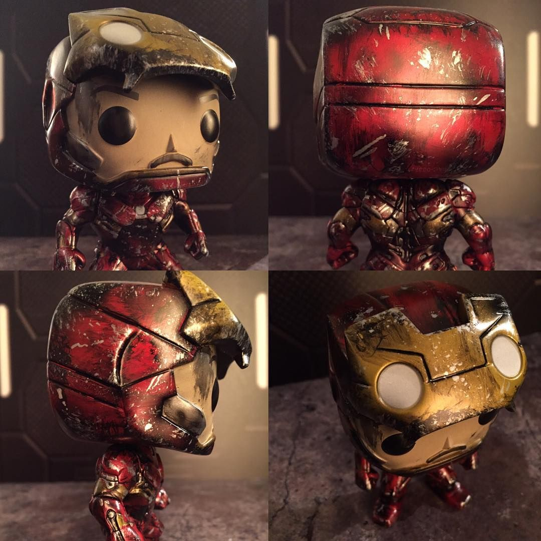 Ironman Custom Funko Pop @xanko_customs On Instagram