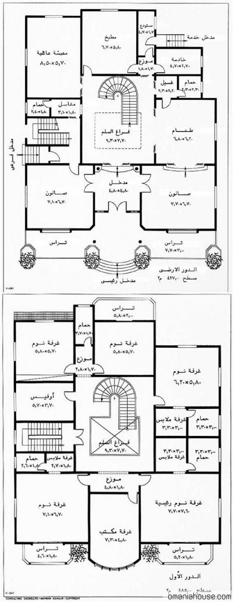 خرائط منازل وديكورات منازل سبلة عمان Square House Plans Mini House Plans Town House Plans