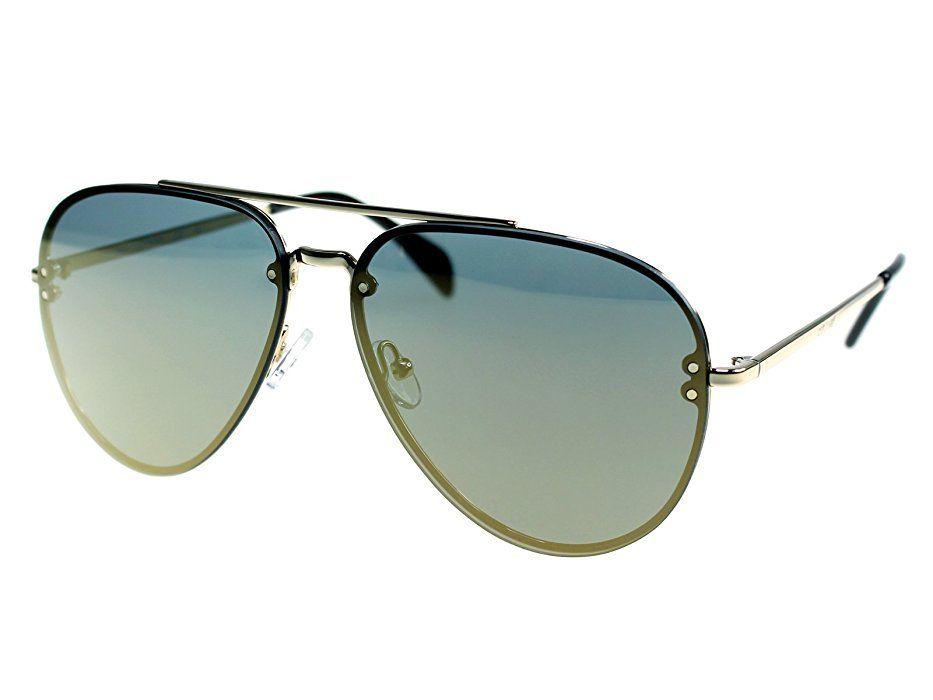 6870861aef2 Amazon.com  Celine Mirror CL 41391 J5G MV Gold Metal Aviator Sunglasses   Celine  Clothing