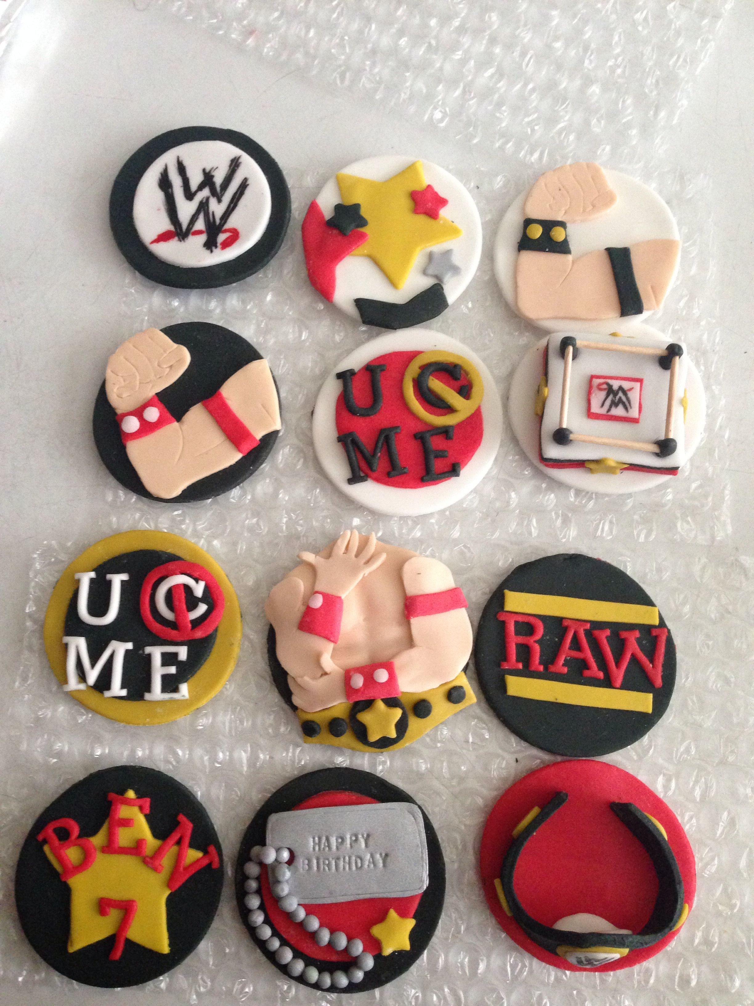 Brilliant Custom Cupcake Toppers Custom Cupcake Toppers Wwe Birthday Personalised Birthday Cards Cominlily Jamesorg