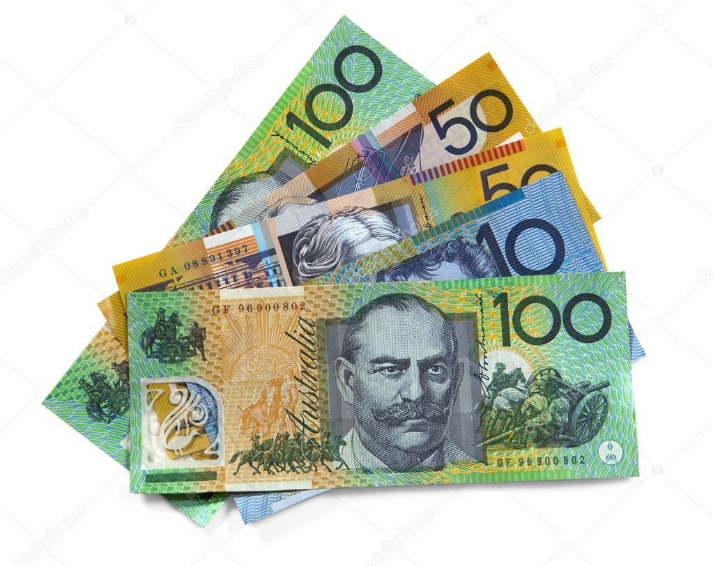 Australian money with path stock image affiliate