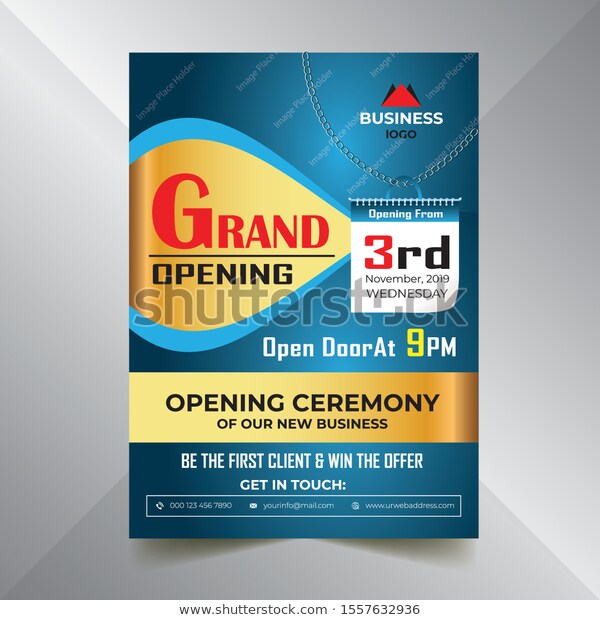 Find Business Flyer Grand Opening Flyer First Stock Images In Hd And Millions Of Other Royalty Free Stock Photos Illustrati Business Flyer Flyer Grand Opening