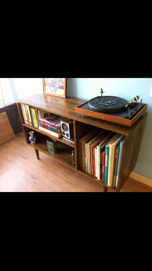 Vintage record player& sideboard House Inspiration Record player cabinet, Danish modern