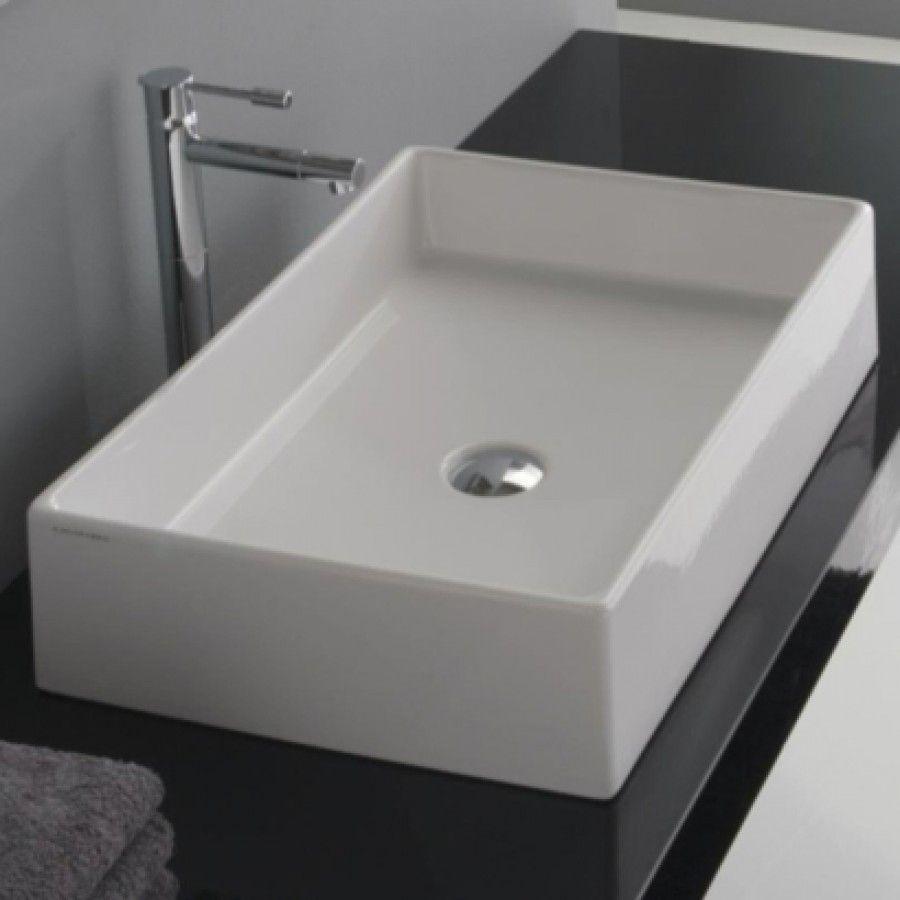 Scarabeo By Nameeks Teorema Rectangular Vessel Sink 8031 60 Pinterest And Sinks