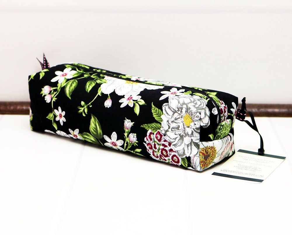 travel eco friendly purple floral pouch small make up bag cork pencil pouch