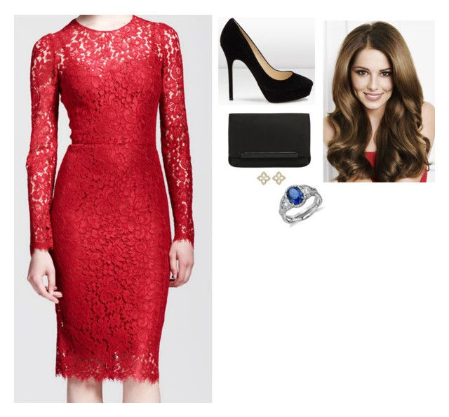 """""""Christmas Reception for the """"Dauphine"""" Foundation's Cooperation Partners at the Château de Versailles"""" by fashion-royalty ❤ liked on Polyvore featuring Dolce&Gabbana, Jimmy Choo, Christian Louboutin, Blue Nile and Kiki mcdonough"""