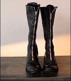 Guidi zipped biker boots
