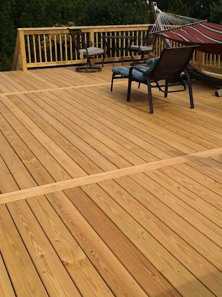 Decks Com Treated Wood In Hamilton I Like The Pattern Vs