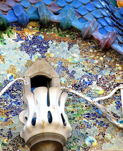 Casa Batlló. Antonio Gaudí. Detalle de balcón