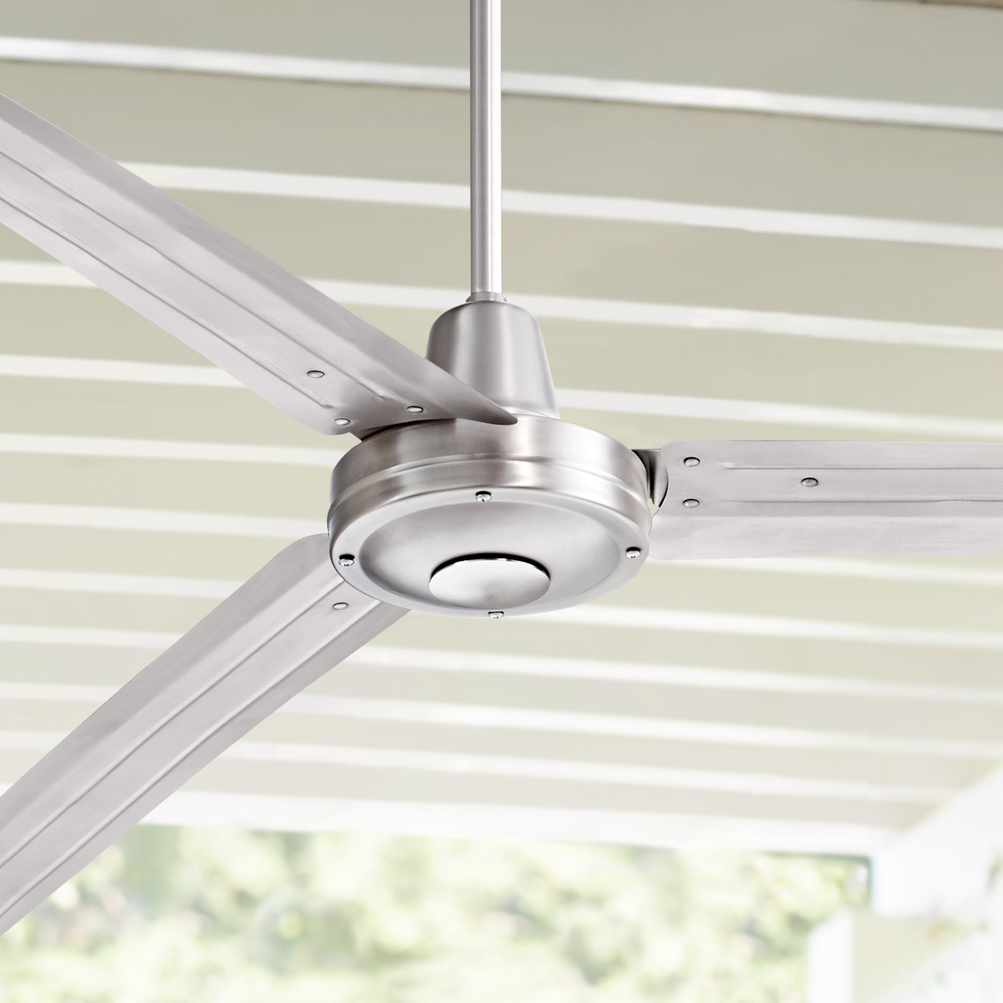 84 Inch Turbina Xl Brushed Nickel Damp Ceiling Fan Ceiling Fan
