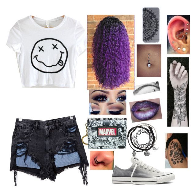 """""""To da mall"""" by sydneynoel116 ❤ liked on Polyvore featuring Alexander Wang, Converse, Bioworld and Nature Girl"""