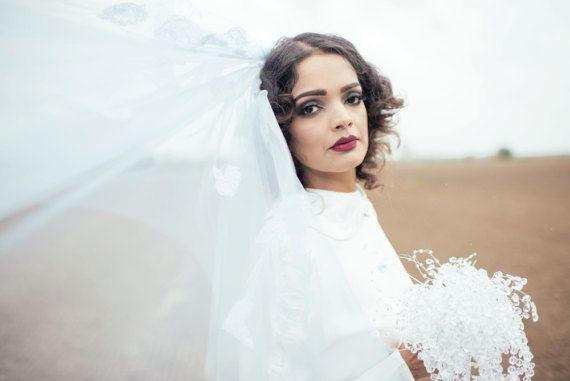 wedding veil coloured veil dip dye veil pink veilveil