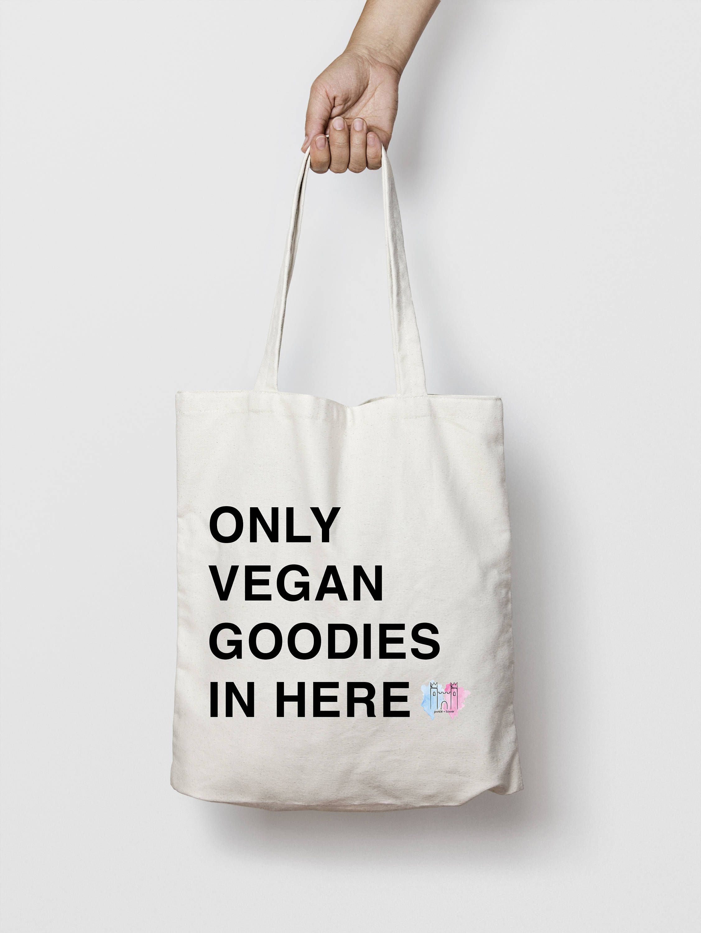 Vegan Tote Bag Custom Vinyl heat pressed tote bag Order your
